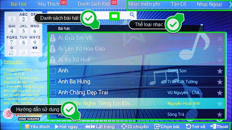 dàn karaoke chơi tết