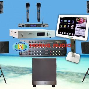 Bộ dàn karaoke gia đình cao cấp HO 43 (Phù hợp phòng trên 40m2)