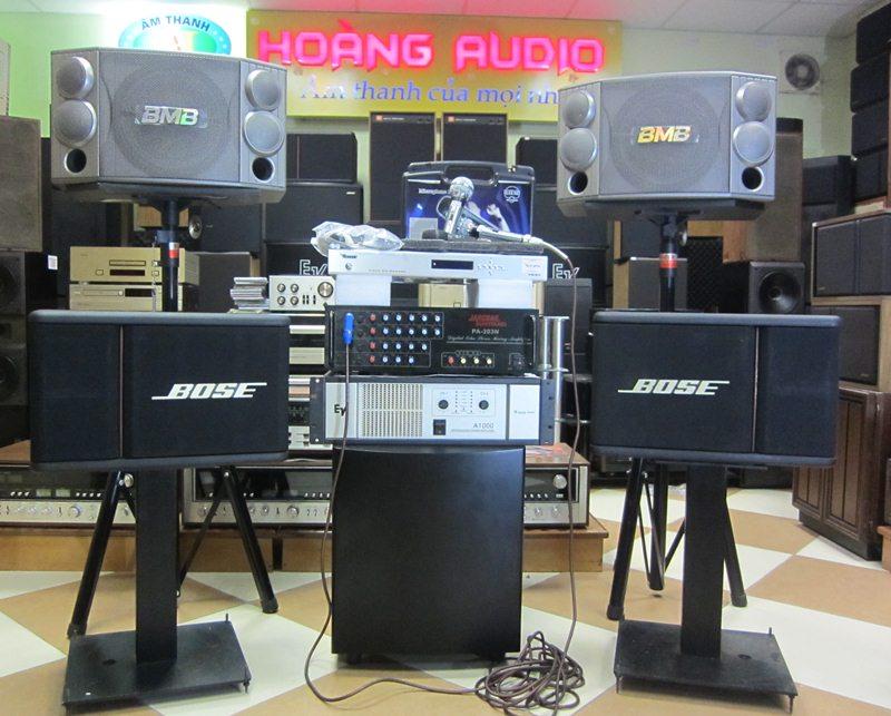 dan karaoke hoangaudio 0011 dàn karaoke gia đình cao cấp BMB 850 + Bose 301AV
